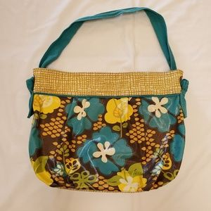 Fossil Canvas and Fabric floral print bag